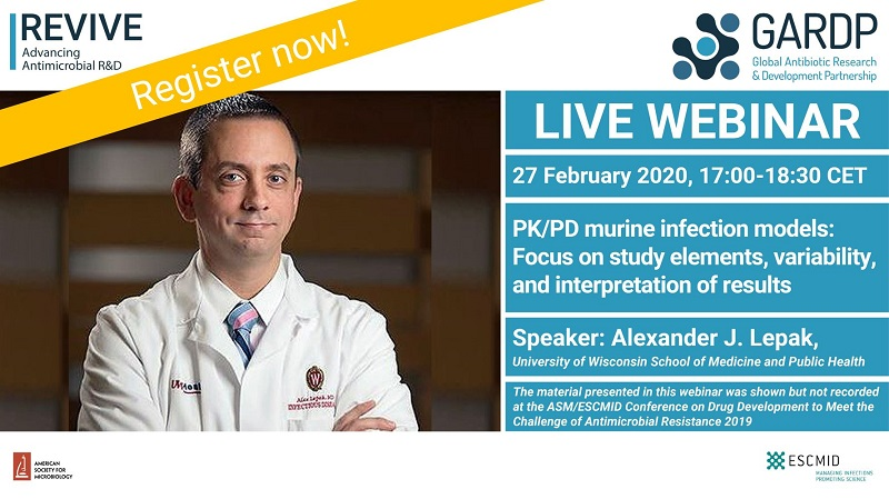 Webinar: PK/PD murine infection models: Focus on study elements, variability, and interpretation of results