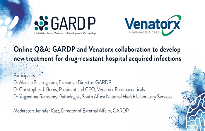 Video: Q&A on GARDP and Venatorx collaboration to develop new treatment for multidrug-resistant infections