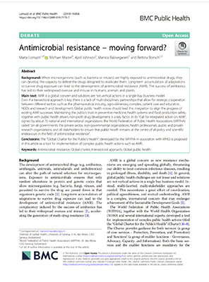 Antimicrobial Resistance – Moving Forward?