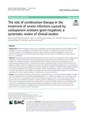 The role of combination therapy in the treatment of severe infections caused by carbapenem resistant gram-negatives: a systematic review of clinical studies