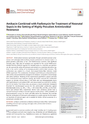 Amikacin Combined with Fosfomycin for Treatment of Neonatal Sepsis in the Setting of Highly Prevalent Antimicrobial Resistance