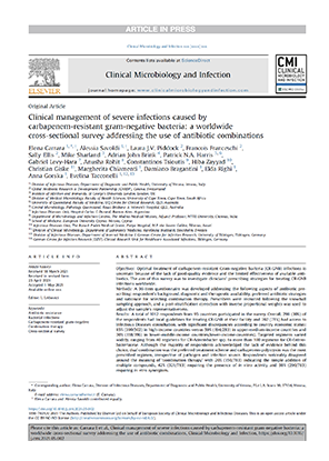 Clinical management of severe infections caused by carbapenem-resistant gram-negative bacteria: a worldwide cross-sectional survey addressing the use of antibiotic combinations