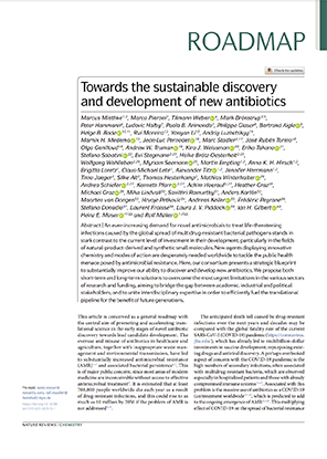 Towards the sustainable discovery and development of new antibiotics