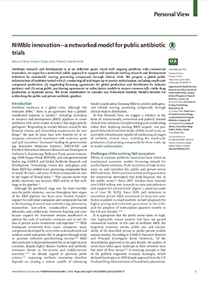 NIMble innovation—a networked model for public antibiotic trials